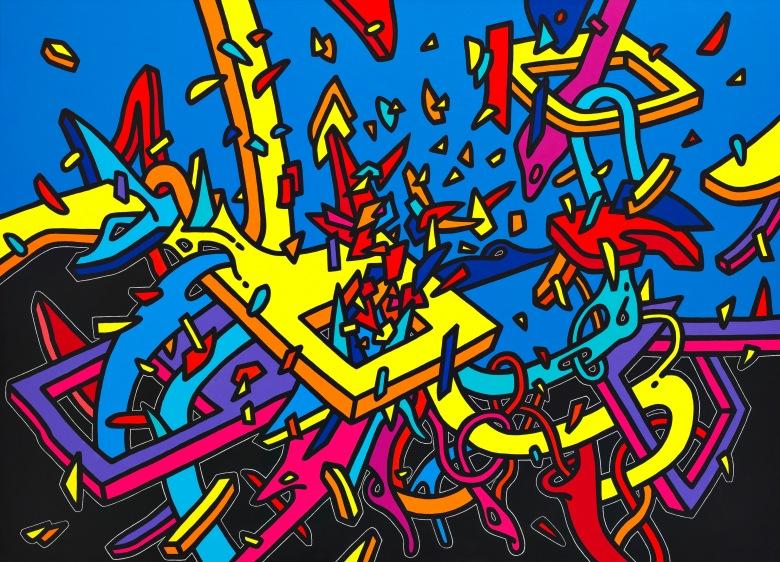 Çağatay Odabaş, super hero, 2015, tuval üzerine akrilik, 130 x 180 cm