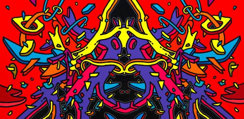 Çağatay Odabaş, The Dragon Woman, Anagram, 2015, tuval üzerine akrilik, 120 x 245 cm