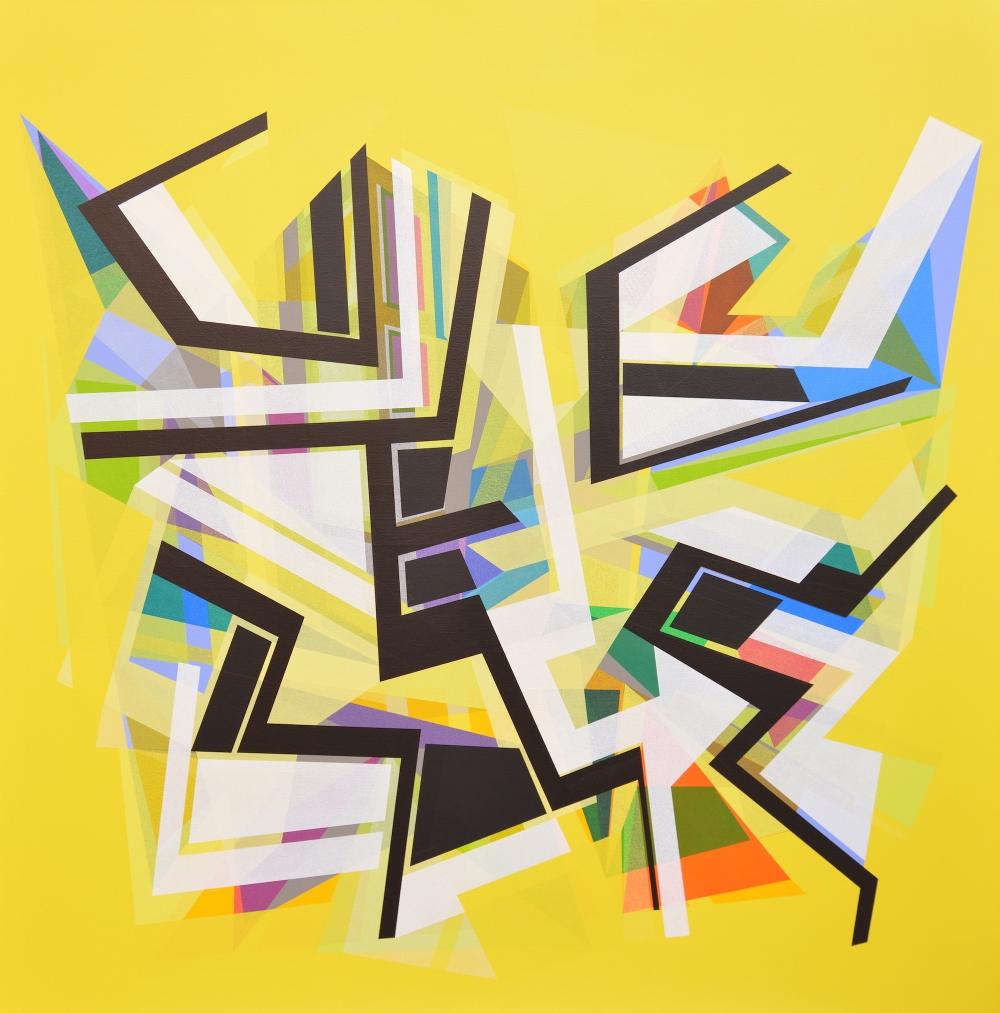 Utku Dervent, Homage to Van Gogh, 2017, acrylic on linen, 120 x 120 cm
