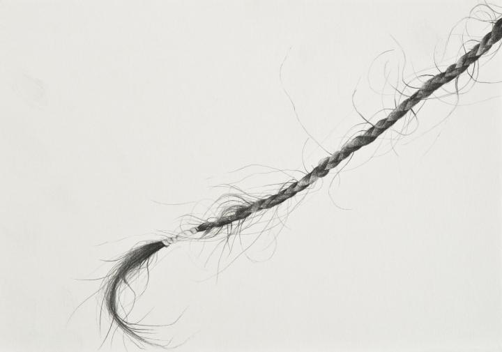 Seda Hepsev, Ardindan Bak,Kağıt üzerine kurşun kalem, 14.5 x 21 cm, 2017